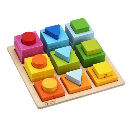 Classic World Wooden Geometric Development Puzzle